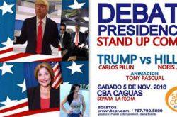 Debate Presidencial Stand Up Comedy en el Centro de Bellas Artes de Caguas