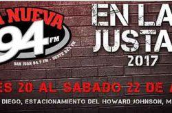 Tarima de la Nueva 94 FM en Las Justas 2017