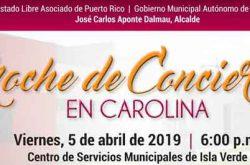 Noche de Conciertos en Carolina 2019